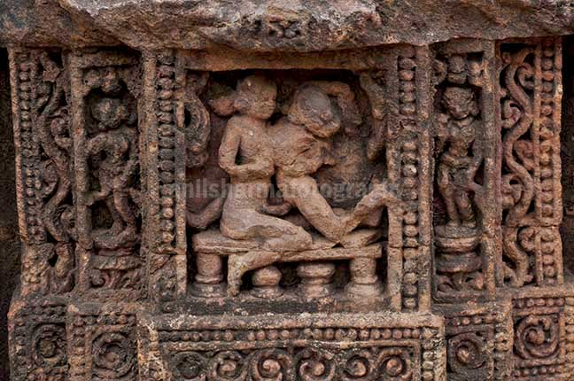 Monuments: Sun Temple Konark, Orissa (India) - Richly carved erotic sculptures at Konark Sun Temple near Bhubaneswar, Orissa, India.. by Anil Sharma Photography