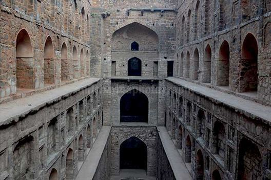 "Monuments: Agrasen ki Baoli or Step well (India) - Historic ""Agrasen Ki Baoli"" situated at Hailey Road near Connaught Place, New Delhi, India"