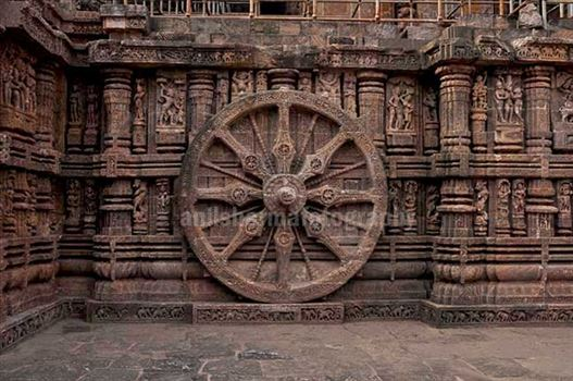 Monuments: Sun Temple Konark (India) - Konark Sun Temple is one of the grandest temples of India at Bhubaneswar, Orissa, India.